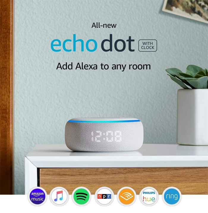 Echo Dot (3rd Gen) Smart Speaker With Clock