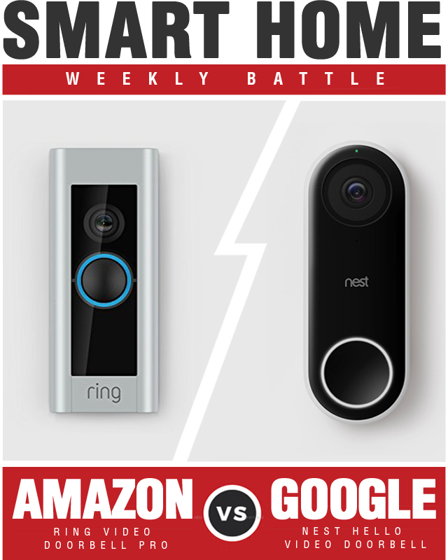Amazon Ring Video Doorbell vs Google Nest Video Doorbell