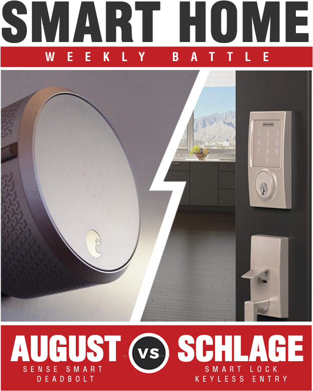 August Smart Lock Keyless Home Entry vs Schlage Sense Smart Deadbolt