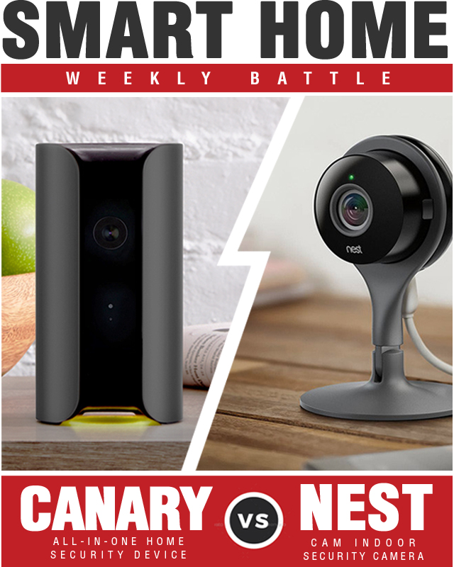 Canary All in One Home Security Device vs Nest Cam Indoor Security Camera