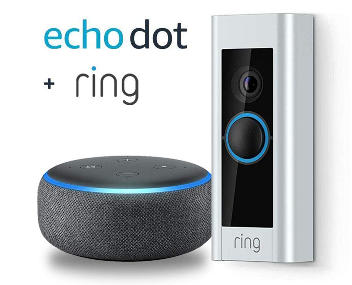 Ring Video Doorbell and Echo Dot