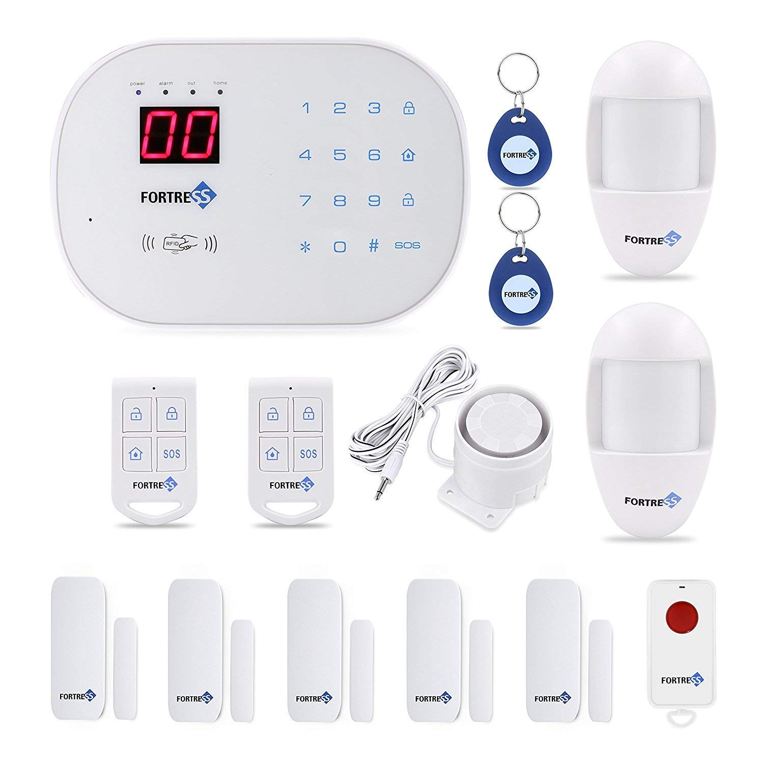 Fortress Security Store S03 WiFi and Landline Security Alarm System