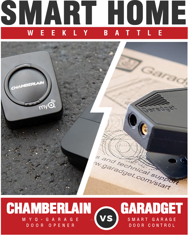 Garadget Smart Garage Door Controller vs Chamberlain MyQ Garage Controls Your Garage Door Opener