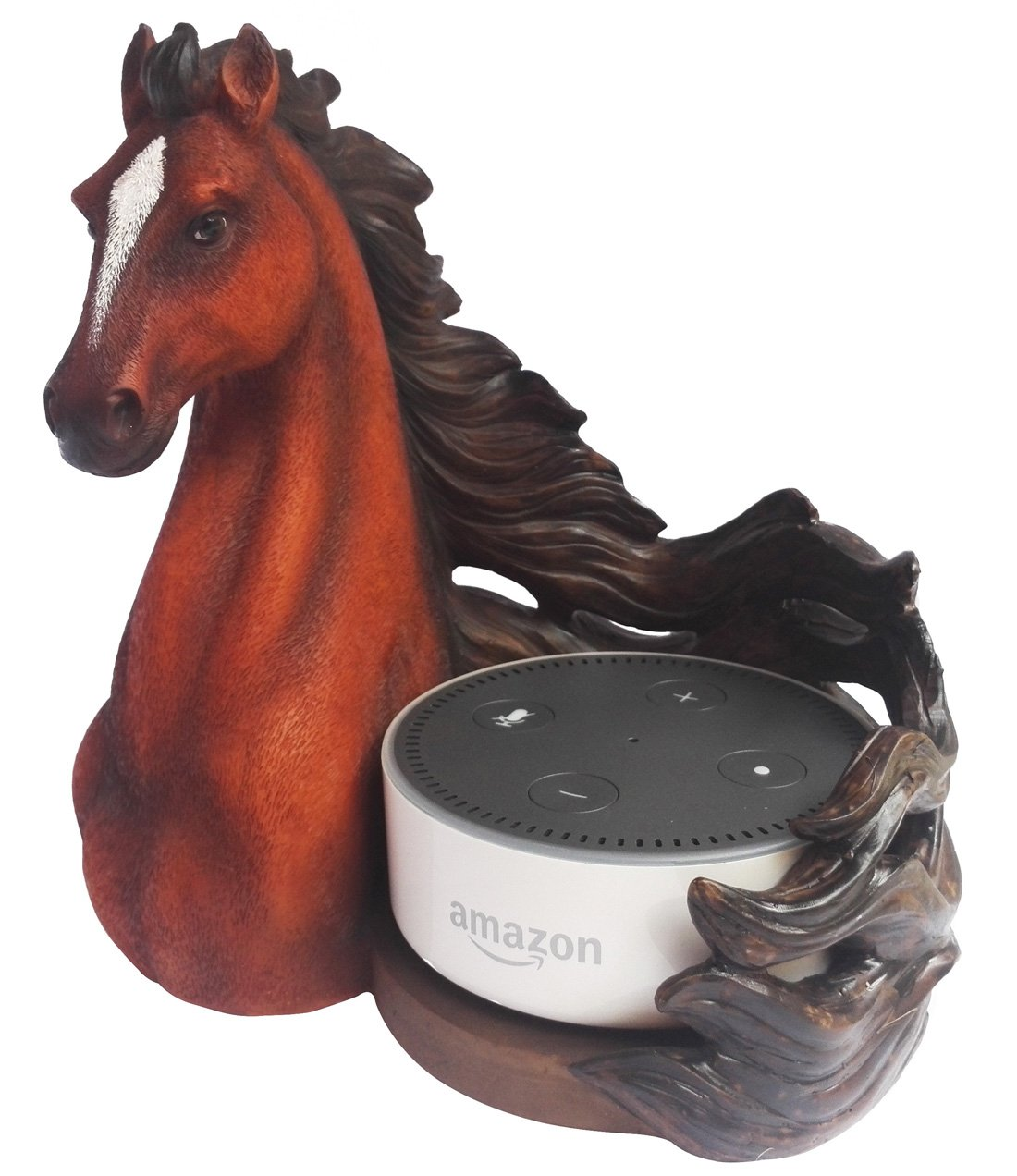 Horse Statue Echo Dot Stand Station Guard Holder