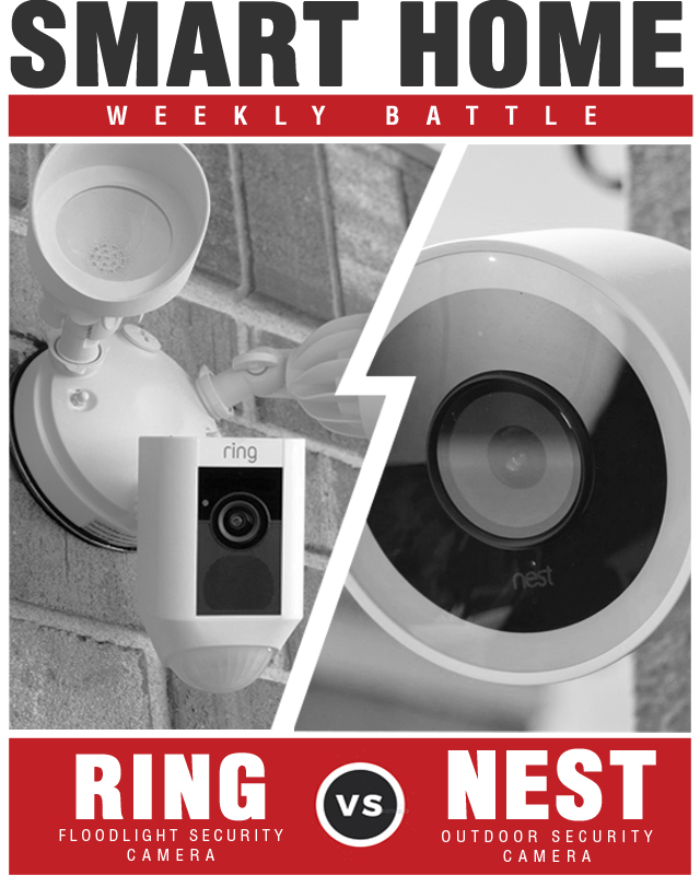 Nest Cam Outdoor Security Camera vs Ring Floodlight Camera