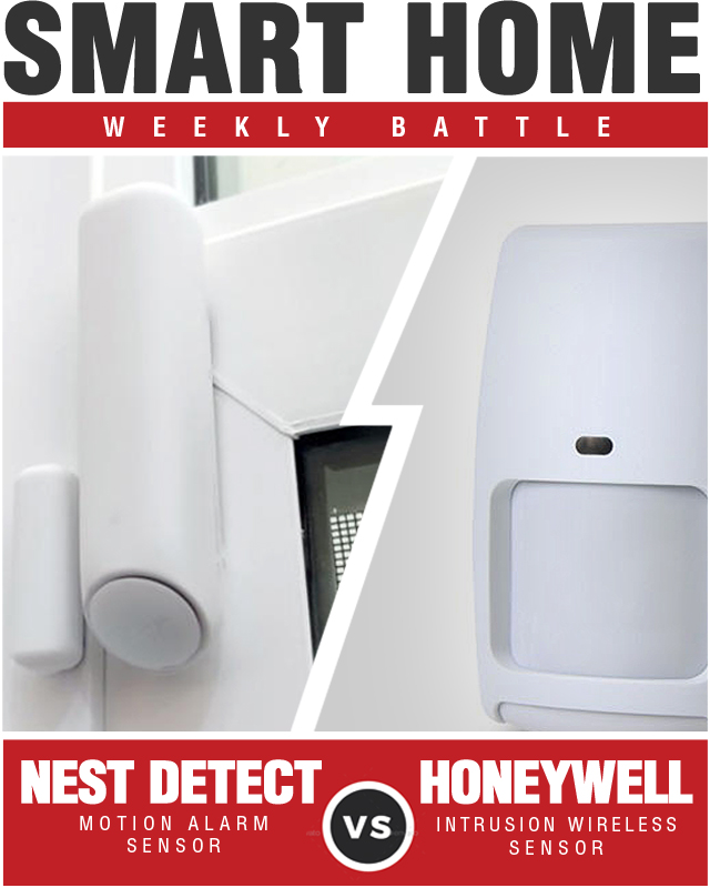 Nest Detect vs Honeywell Intrusion Wireless Sensor