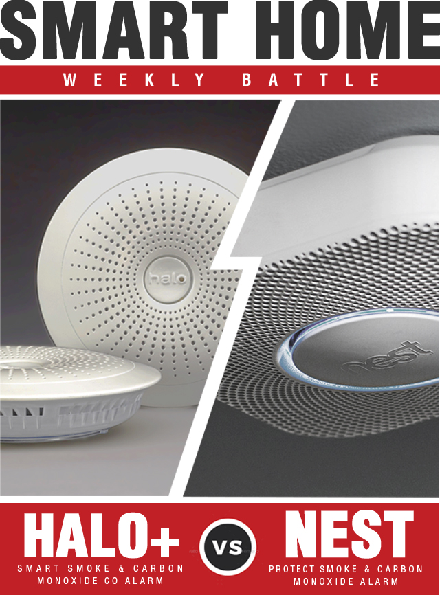 Nest Protect Smoke Carbon Monoxide Alarm vs Halo+ Smart Smoke Carbon Monoxide CO Alarm