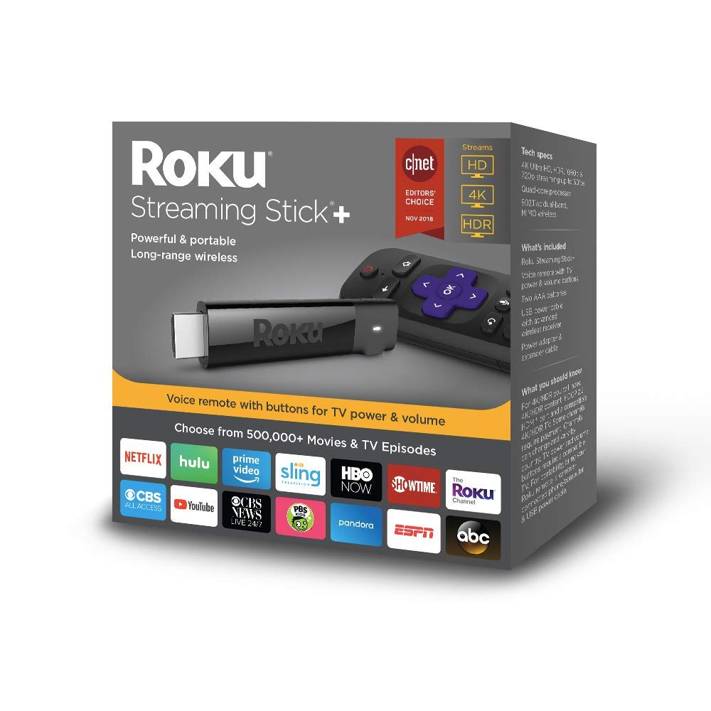 Roku Streaming Stick+ with Voice Remote