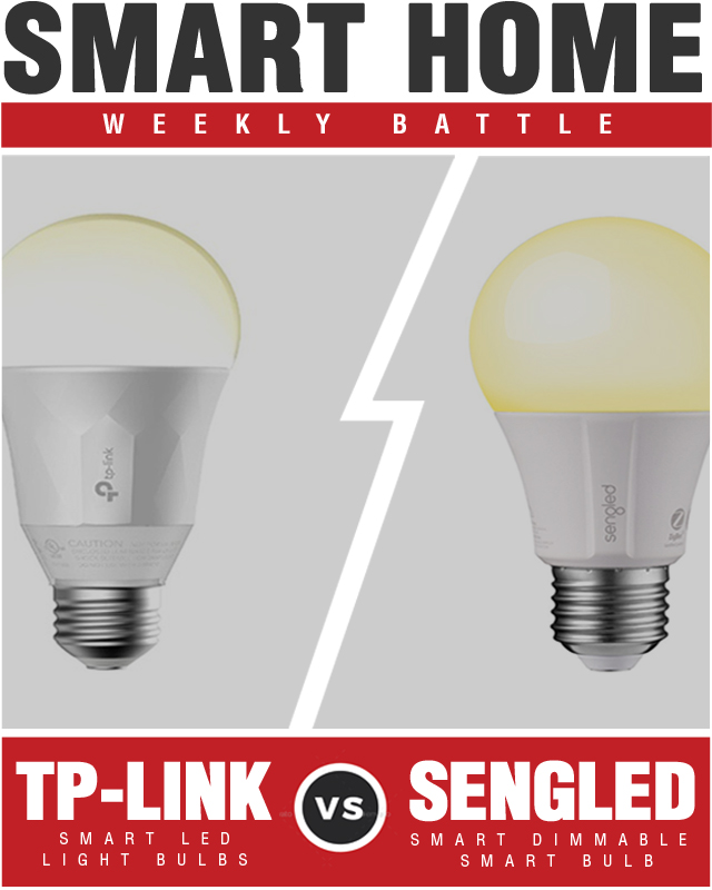 TP-Link Smart LED Light Bulb Wi-Fi Dimmable White vs Sengled Element Classic Dimmable A19 Smart Bulb