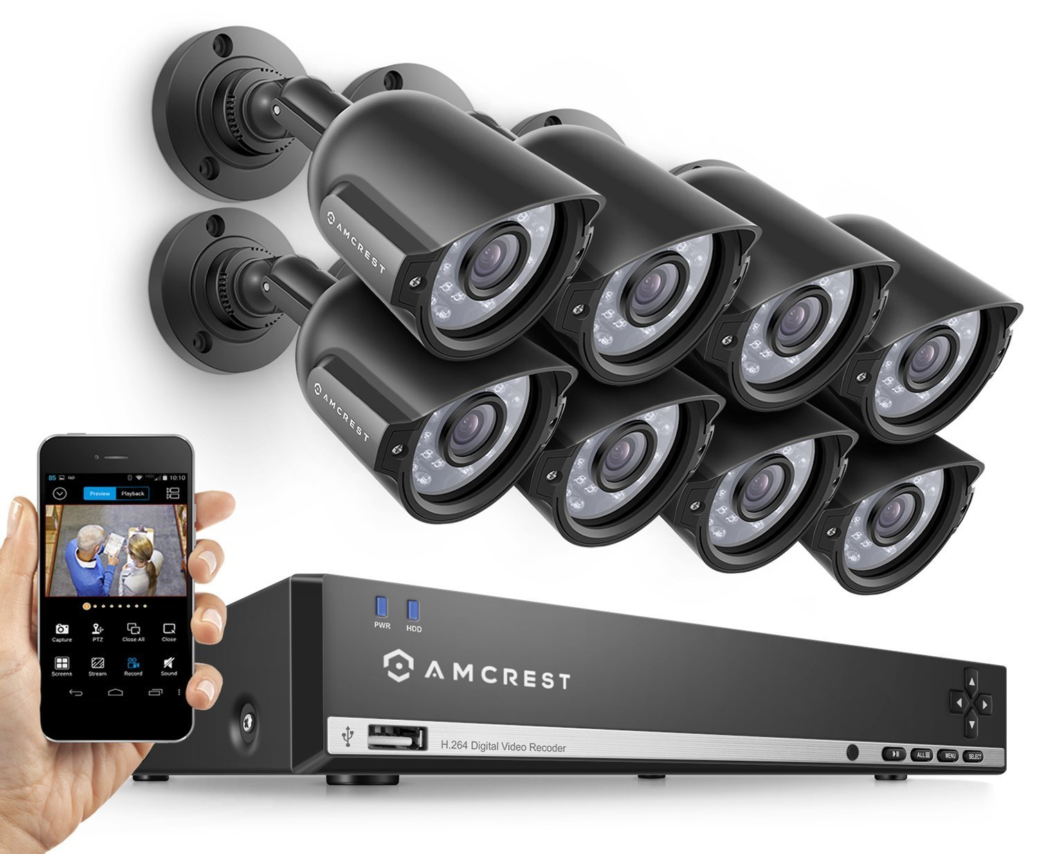 Amcrest AMDV960H8-8B 8CH 1TB DVR Security Camera System