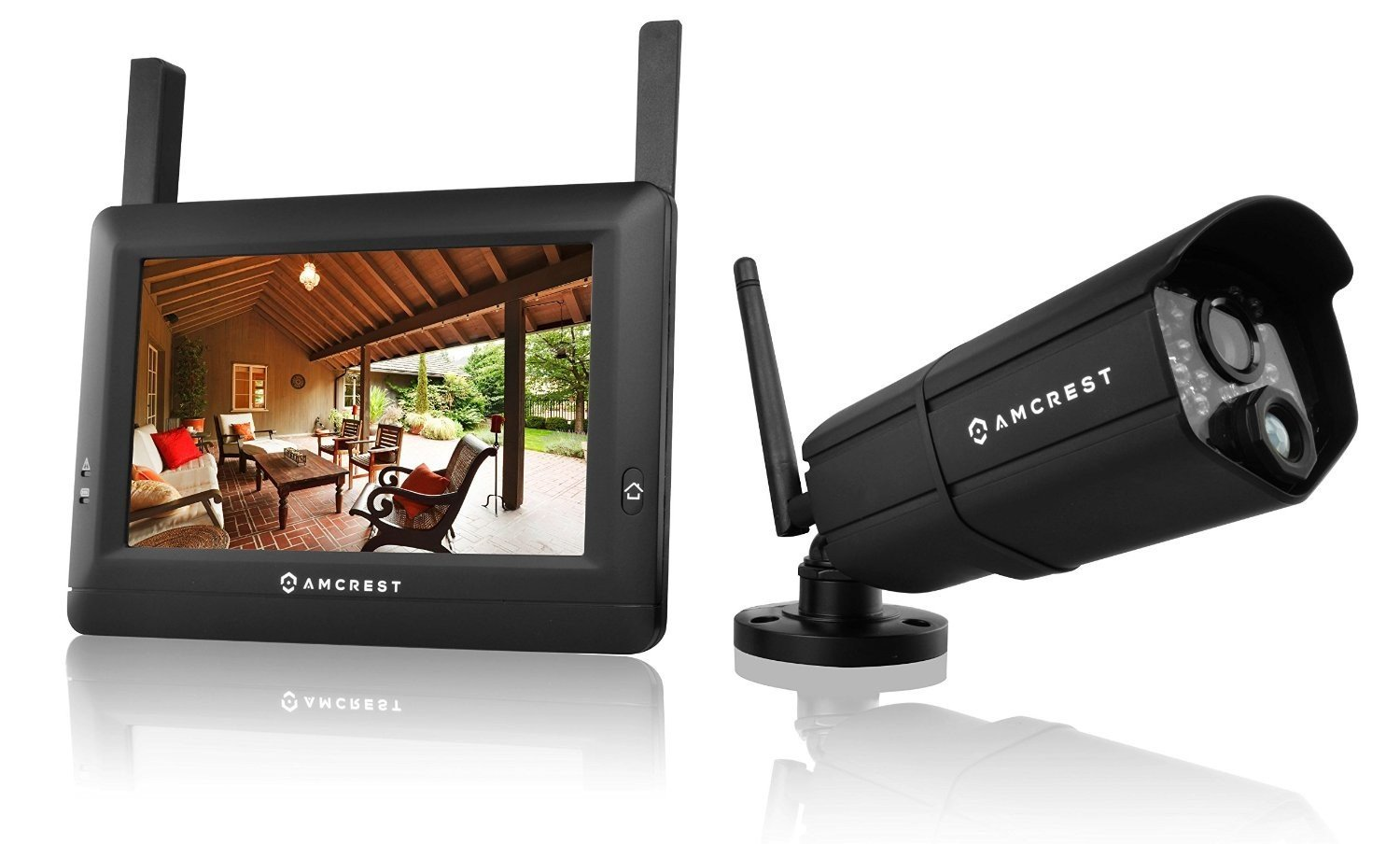 Amcrest WLD895US 720P 4CH 7-Inch Wireless Video Surveillance System