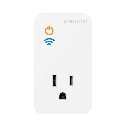 Ankuoo REC Lite White Wi-Fi Smart Plug Works with Alexa Controls Your Lights & Devices from anywhere