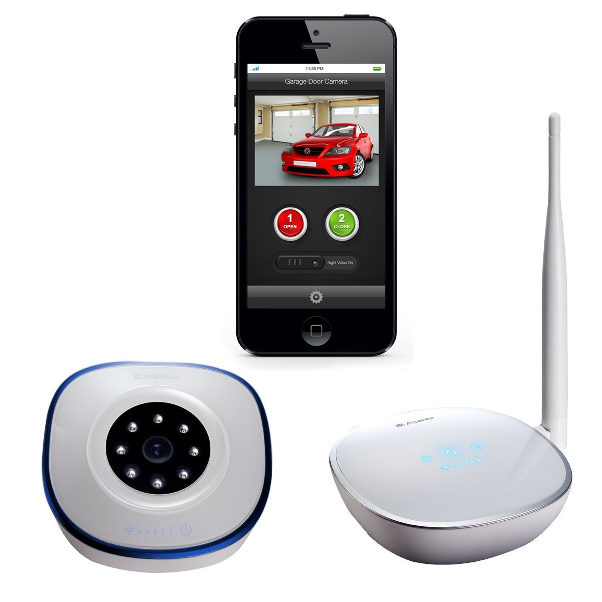 Smart home garage door controls smart home devices asante garage door opener with camera kit rubansaba