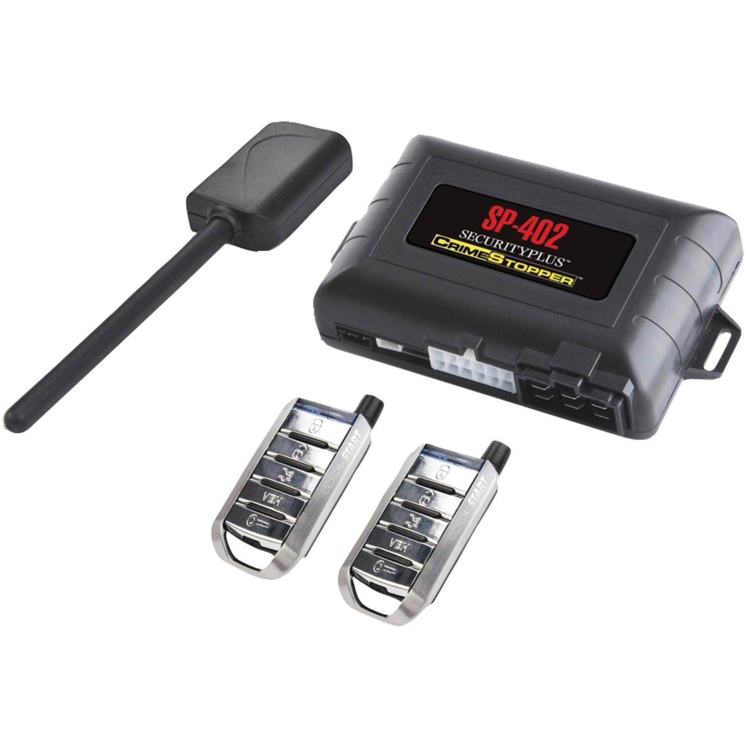 Crimestopper Car Alarm with Remote Start Keyless Entry and Engine Disable