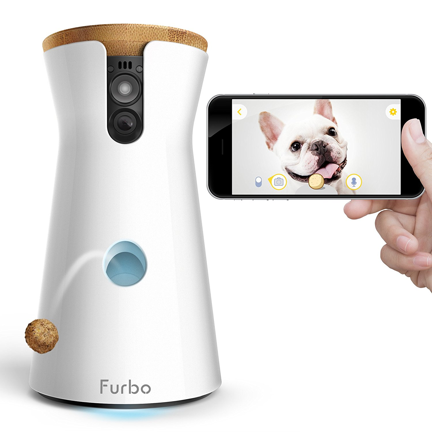 Furbo Dog Camera Treat Tossing HD Wifi Cam and 2-Way Audio