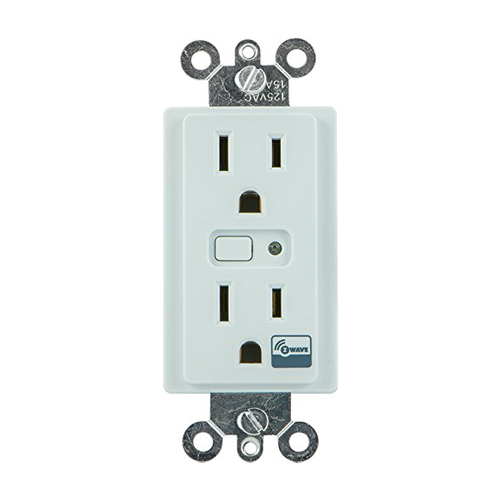GE Lighting Control Duplex Receptacle Z-Wave Wireless