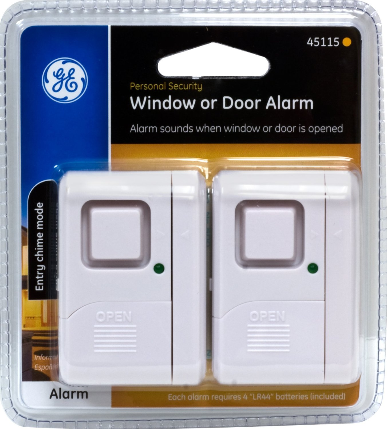 GE Personal Security Window Door Alarms