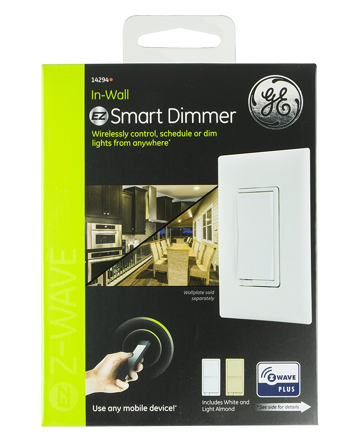 GE Z-Wave Plus Wireless Smart Lighting Control Smart Dimmer Switch