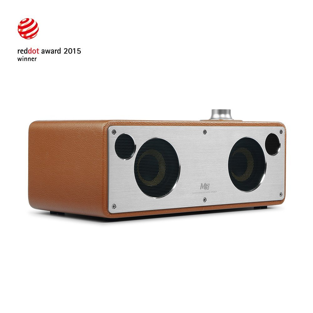 GGMM M3 Retro Wi-Fi/Bluetooth Stereo Wireless Leather Speaker