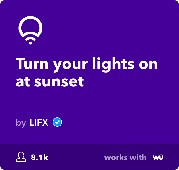 IFTTT connects with LIFX