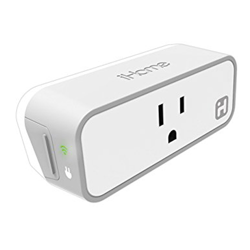 iHome Smart Plug Wi-Fi Power Monitoring Works with Amazon Alexa