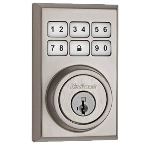Kwikset 910 Z-Wave Contemporary SmartCode Electronic Deadbolt featuring SmartKey