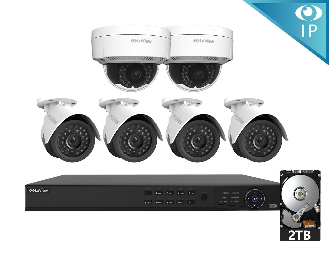 LaView 6 1080P IP Camera Security System