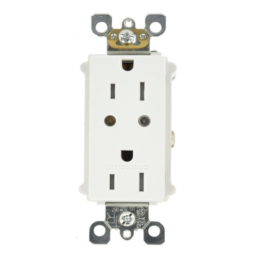 Leviton Split Duplex Tamper Resistant Scene Capable Receptacle Works with Amazon Alexa