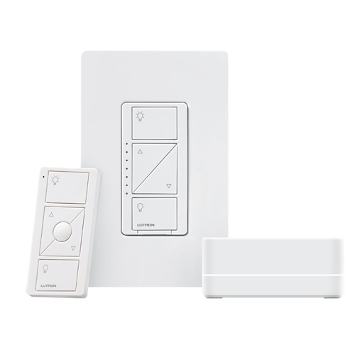 Lutron Caseta Wireless Dimmer Kit with Smart Bridge for Amazon Alexa