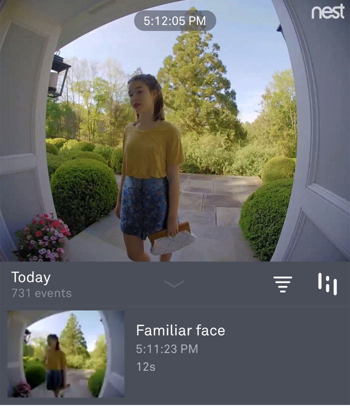 Nest Hello Video Doorbell Familiar Face