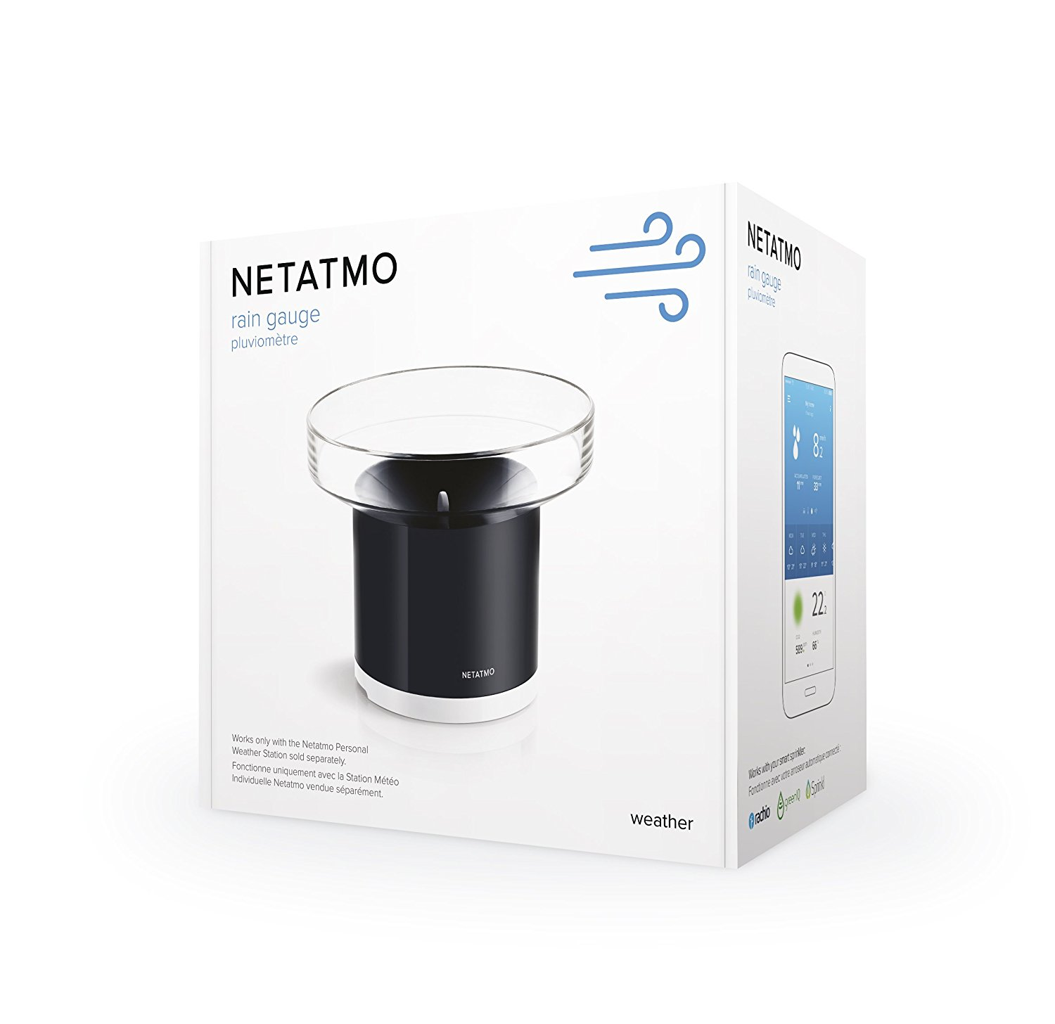 Netatmo Rain Gauge for Netatmo Weather Station