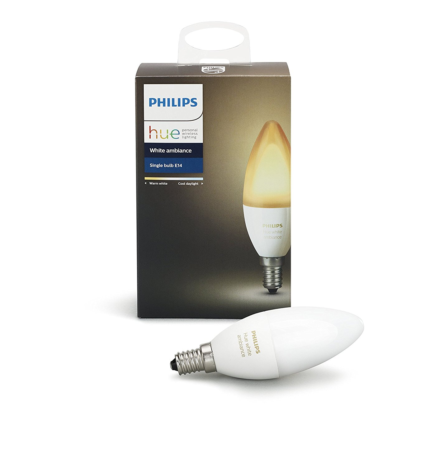 Philips Hue White Ambiance E12 Decorative Candle 40W Equivalent Dimmable LED Smart Bulb