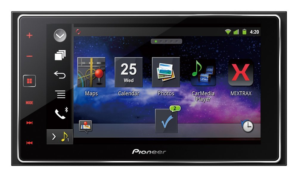Pioneer AppRadio 6 2-Inch Capacitive Touchscreen Smartphone Receiver Display