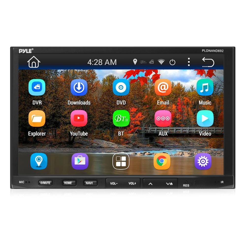 Pyle Android Car Stereo Double Din Receiver WIFI Touchscreen Bluetooth DVD Navigation USB SD