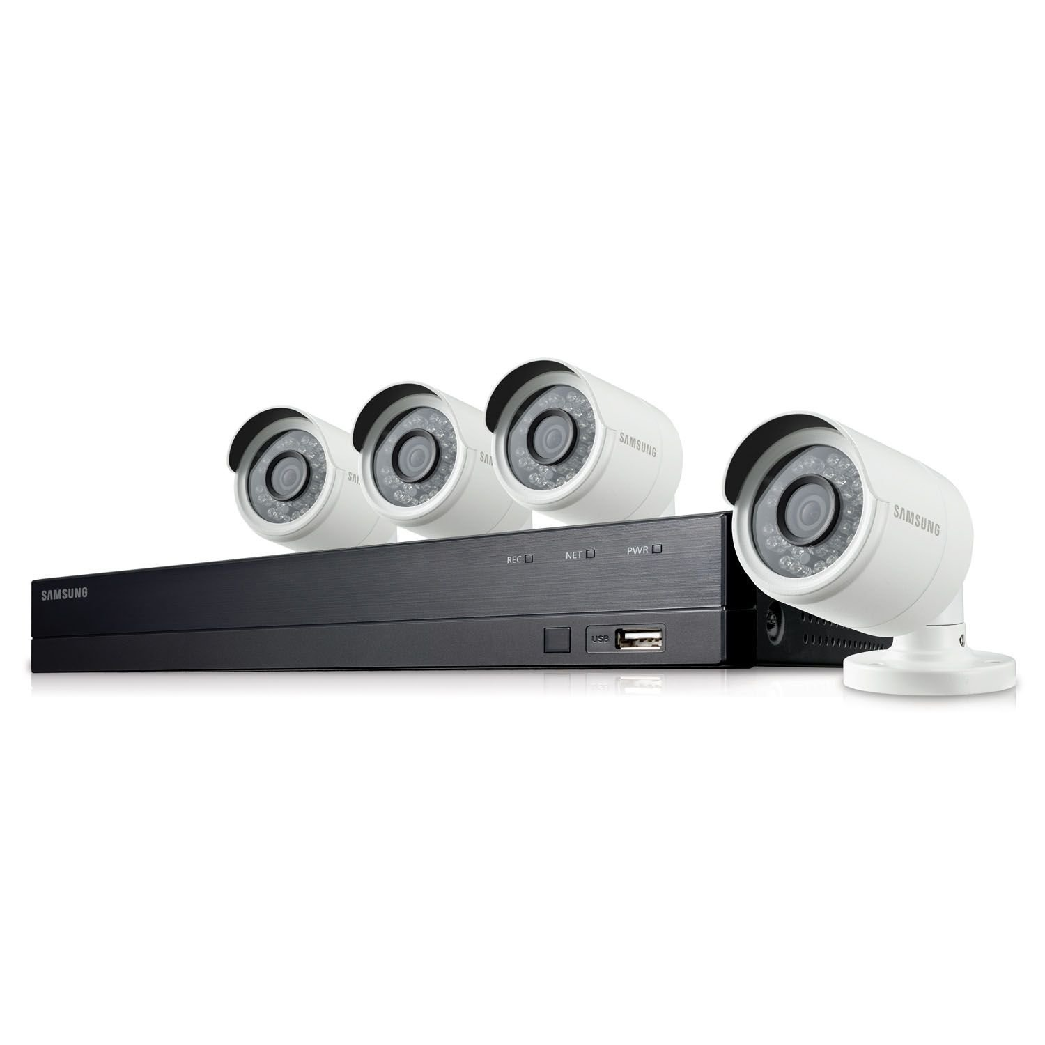 Samsung 8 Channel 1080p HD 1TB Security Camera System with 4 Outdoor BNC Bullet Cameras