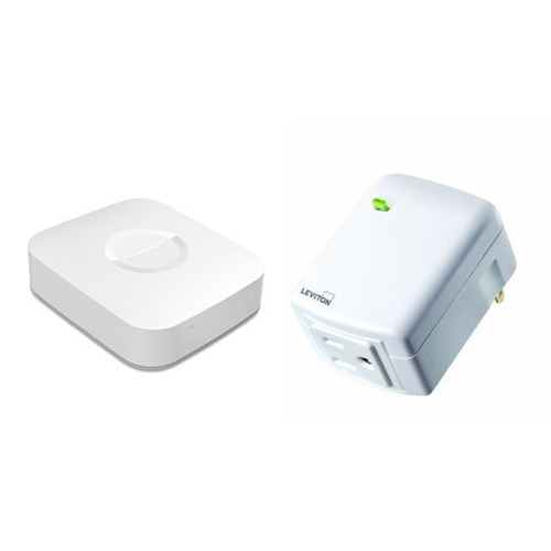 Samsung SmartThings Hub and Leviton Plug-In Appliance Module Bundle Works with Amazon Alexa