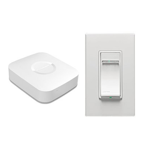 Samsung SmartThings Hub and Leviton Universal Dimmer Bundle Works with Amazon Alexa