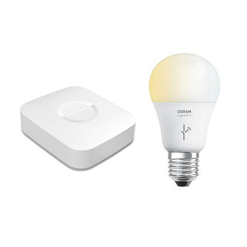 Samsung SmartThings Hub and SYLVANIA LIGHTIFY by Osram Smart Home LED Light Bulb