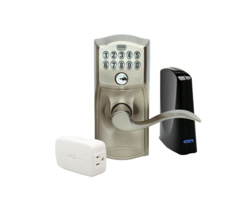 Schlage LiNK Wireless Keypad Entry Lever Lock Starter Kit System