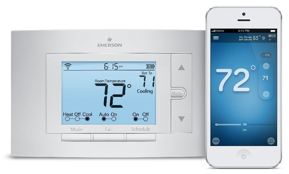 Sensi Smart Thermostat Wi-Fi UP500W Works with Amazon Alexa