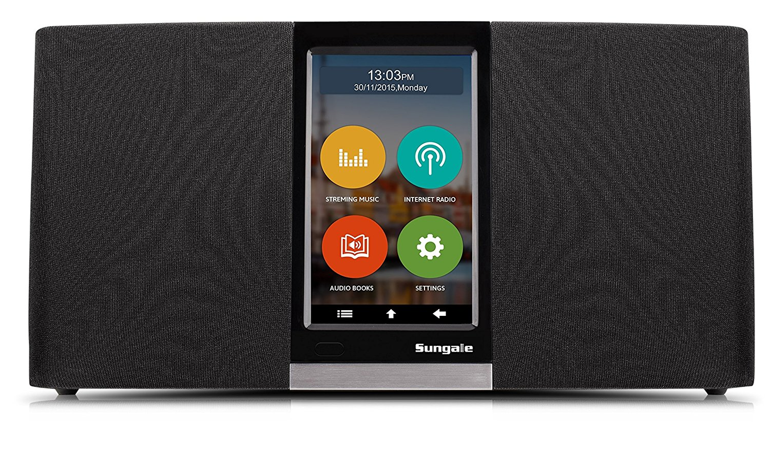 Sungale Wi-Fi Internet Radio with User Friendly Touchscreen Navigation