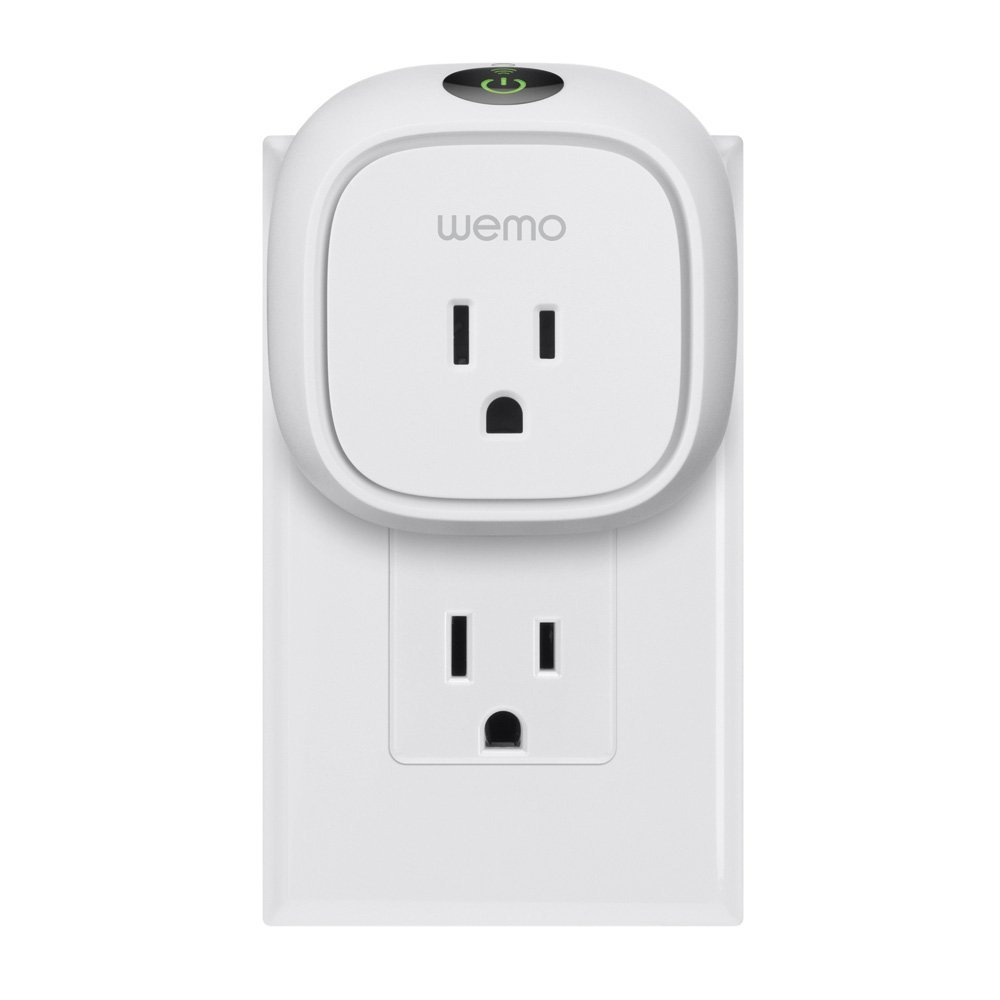 Wemo Insight Switch Wi-Fi Smart Plug Control Lights and Appliances From Your Phone Manage Energy Costs Works with Amazon Alexa