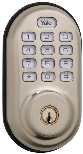 Yale Real Living Keyless Push Button Deadbolt with Z-Wave