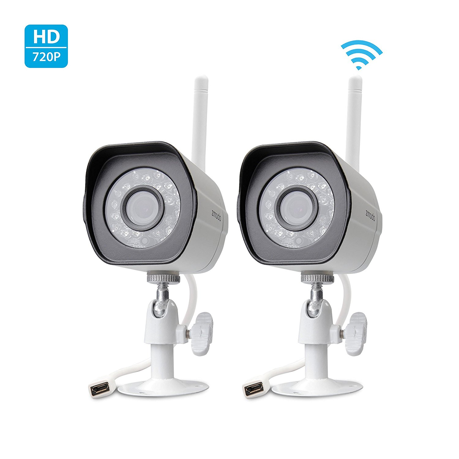 Zmodo Smart Wireless Security Cameras HD WiFi IP Cameras with Night Vision Easy Remote Access
