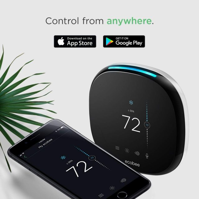 Comparison of ecobee4 Smart Thermostat app