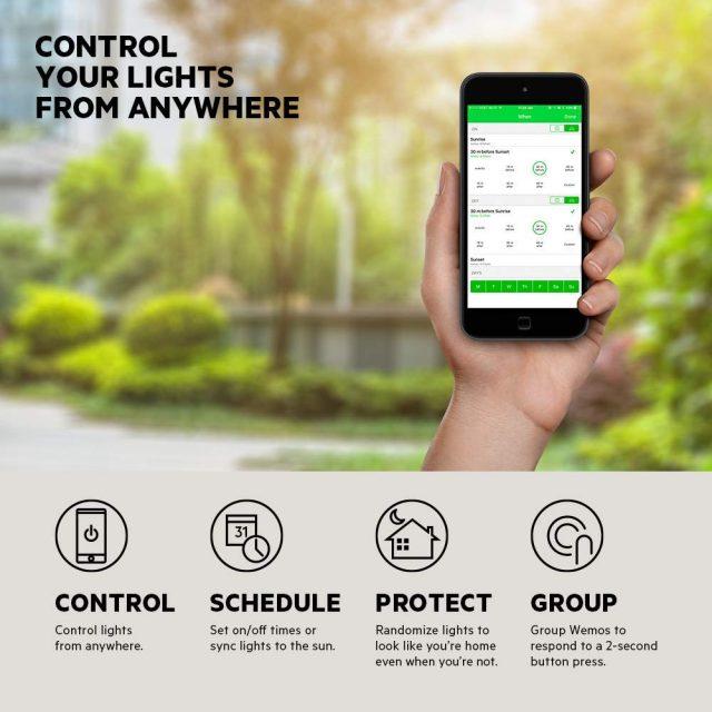 smart lights Wemo WiFi Light Switch app